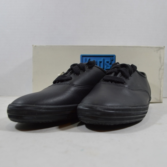 c4009b4ee75f4 Vintage Keds Womens Champion Leather Shoes Black